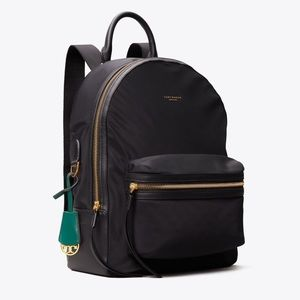 Tory Burch Perry Nylon Zip Backpack Black